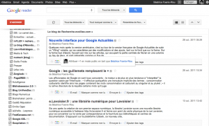 google reader nouvelle interface