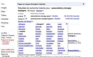 pages en langue etrangere traduites google