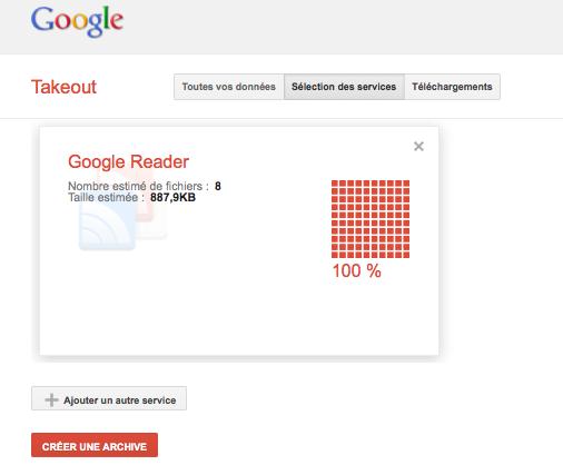 exporter ses flux depuis google reader