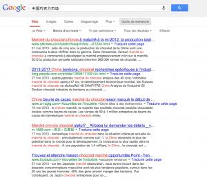 résultats traduits par google