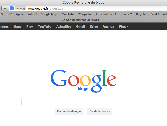 Filtre Google blog