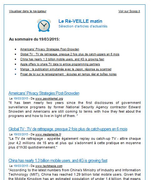 Newsletter créer automatiquement avec MailChimp