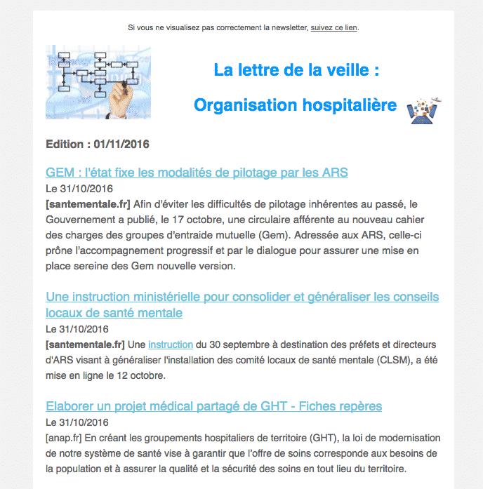 Sébastien André : exemple de newsletter reçue avec mailChimp