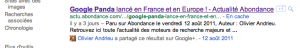 intégration de google+ dans google web