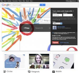 inscription sur la plateforme google+