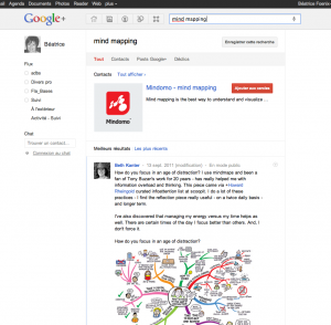 un moteur de recherche pour google+