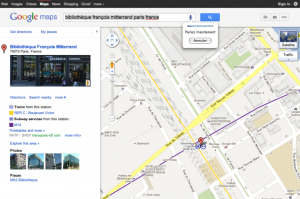 recherche vocale sur Google Maps
