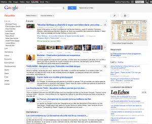 google actualites interface