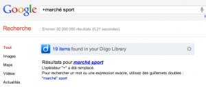 google les guillemets remplacent le +