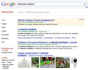 usage des guillemets sur google