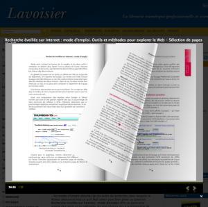e.lavoisier la librairie numérique de Lavoisier