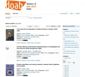doabooks page de resultats