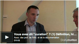 Vous avez dit curation ? Video Christophe Deschamps