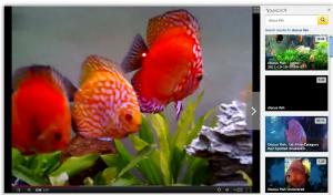 interface recherche videos yahoo