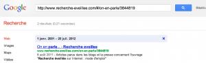 identifier date de publication page google
