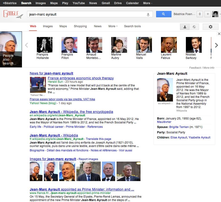 page de résultats google version internationale