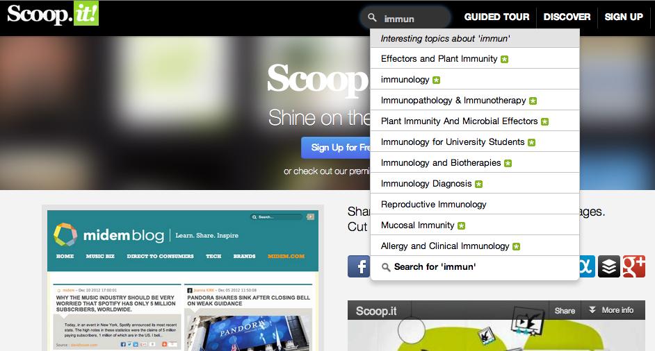 scoop.it recherche par mots