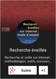 Page Google+ de Recherche-eveillee