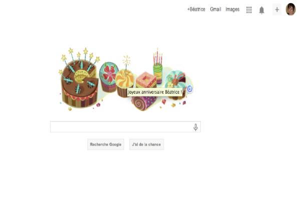google doodle personnalisé