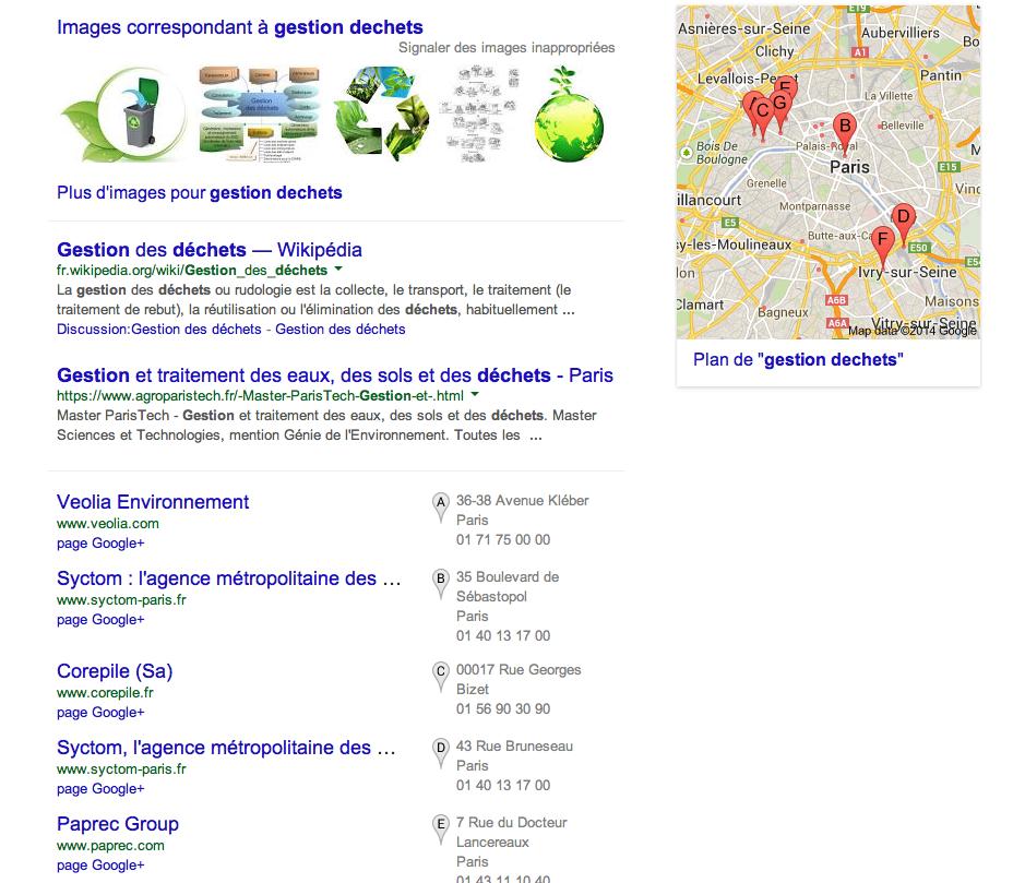 google resultats personnalisés