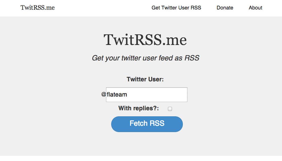 TwitRSS Creer un flux RSS depuis Twitter