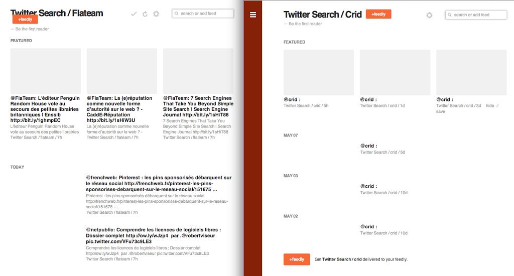 Flux RSS crees avec TwitRSS