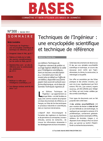 technique ingenieur